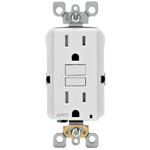 small resolution of 15 amp tamper resistant afci outlet white