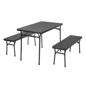 cosco card table and chairs recall acrylic side chair with cushion commercial heavy duty 6 ft brown round folding 3 piece black bench set