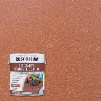 Rust-Oleum 1 gal. Brick Water-Based Decorative Concrete ...