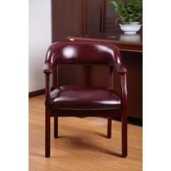 Captains Chair Office Target Boss Traditional Burgundy Captain S B9540 By The Home Depot