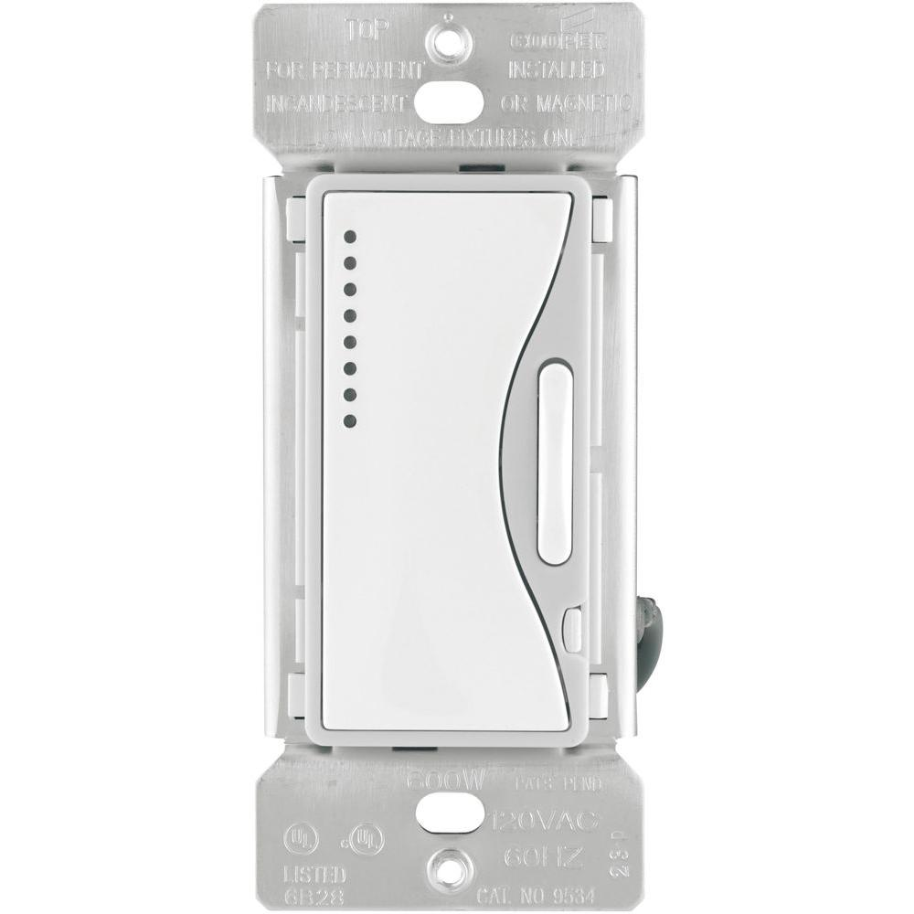medium resolution of eaton aspire 600 watt smart dimmer with preset white satin