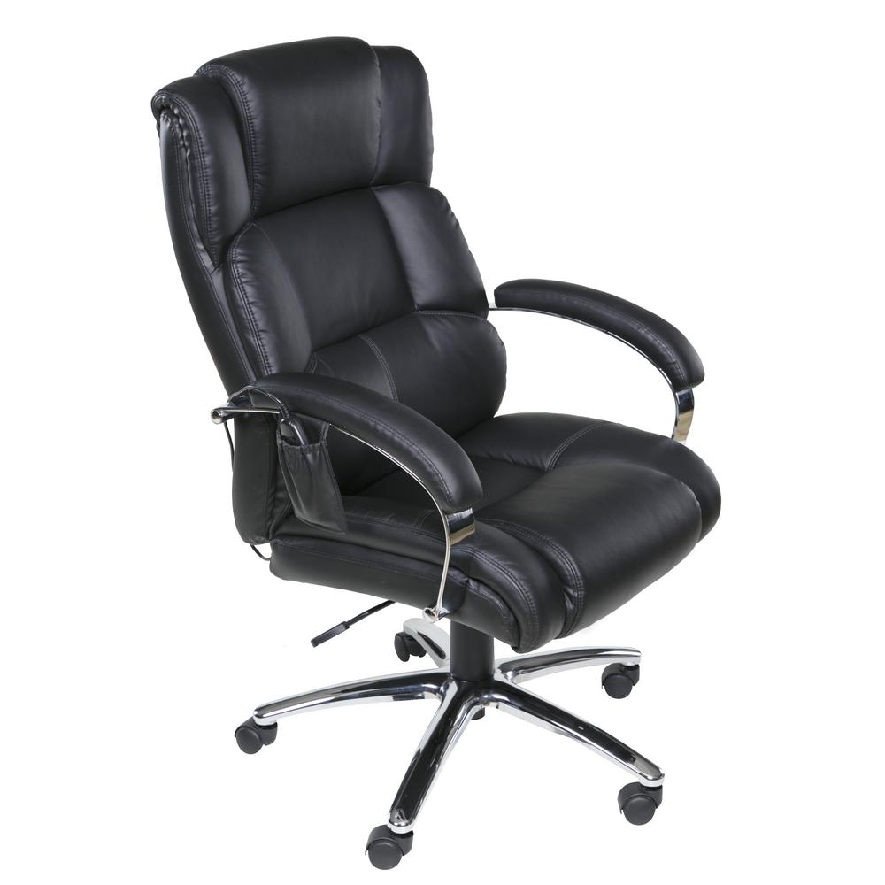 Massage Office Chair Relaxzen Black Executive 6 Motor Massage Chair With Lumbar Support