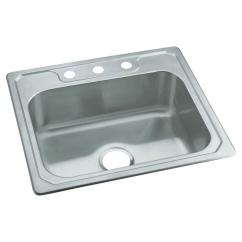 3 Basin Kitchen Sink How Do You Paint Cabinets Sterling Middleton Drop In Stainless Steel 25 Hole Single Bowl