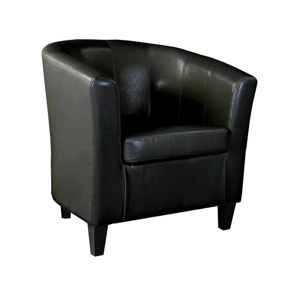 leather tub chair vinyl lounge chairs corliving antonio black bonded lad 705 c the