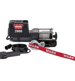 warn 2000 dc light duty trailer loading utility winch [ 1000 x 1000 Pixel ]