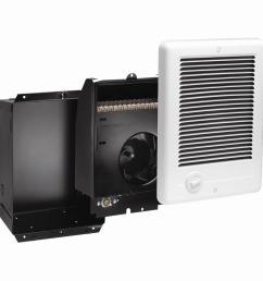 com pak 1 000 watt 240 volt fan forced in wall electric [ 1000 x 1000 Pixel ]