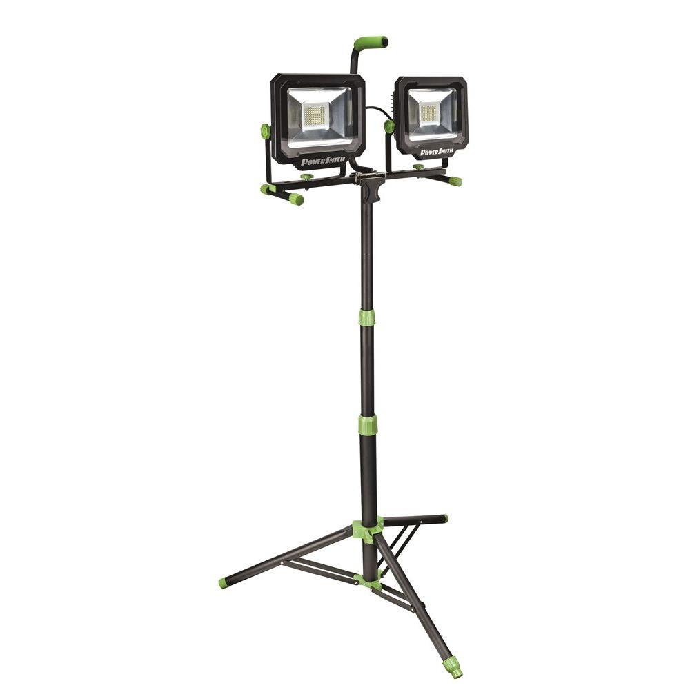 PowerSmith 100-Watt (10,000 Lumens) LED Dual-Head Work