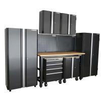 Husky 98 in. H x 145 in. W x 24 in. D Steel Garage Cabinet ...