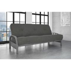 Metal Frame Sofa Bed Sofaer Capital Global Opportunities Hedge Fund Dhp Aiden Full Size Futon In Silver 3273408 The Home Depot