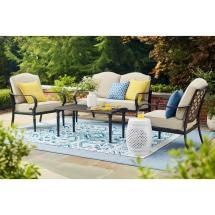 Hampton Bay Laurel Oaks 4-piece Patio Conversation Set