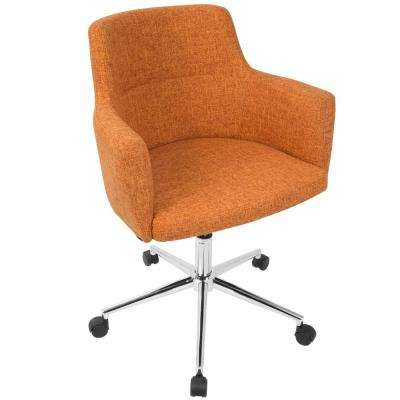 orange office chair slip covers walmart chairs home furniture the depot andrew contemporary adjustable fabric red