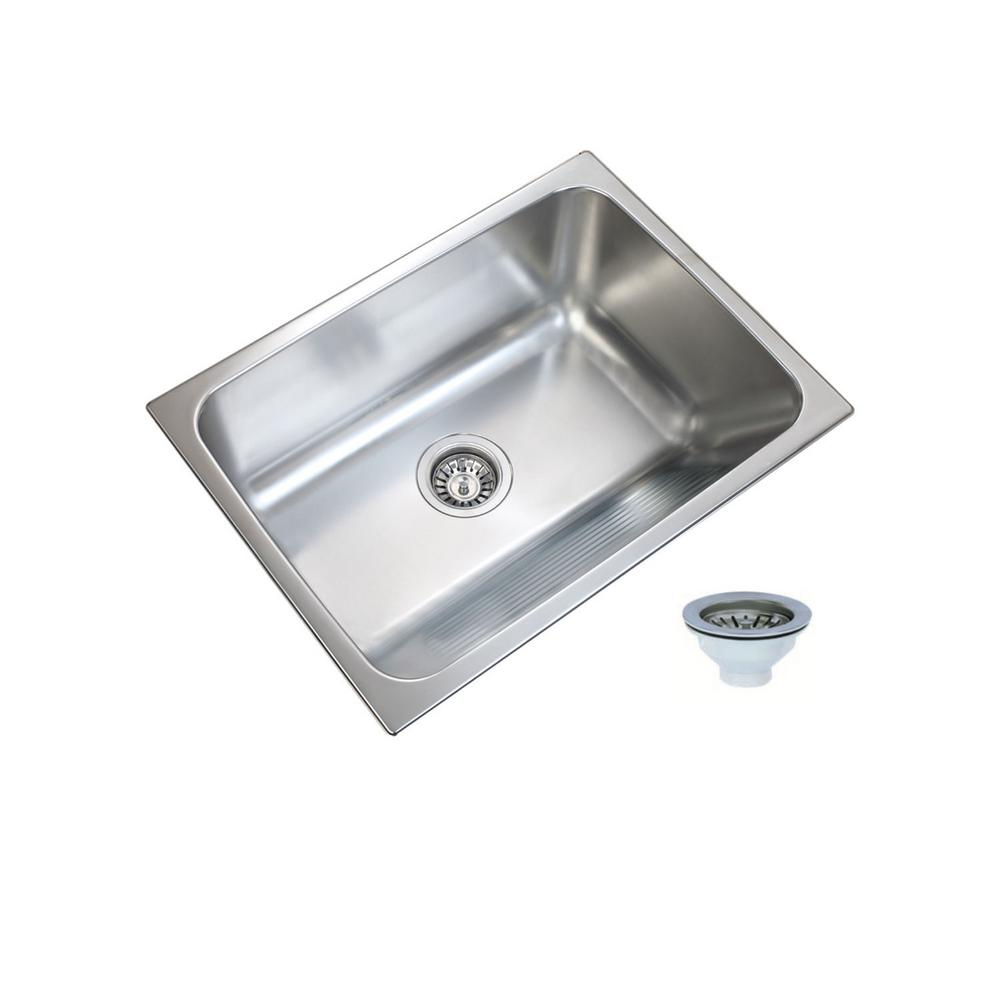 Ukinox 24 In X 18 In Single Bowl Stainless Steel Laundry