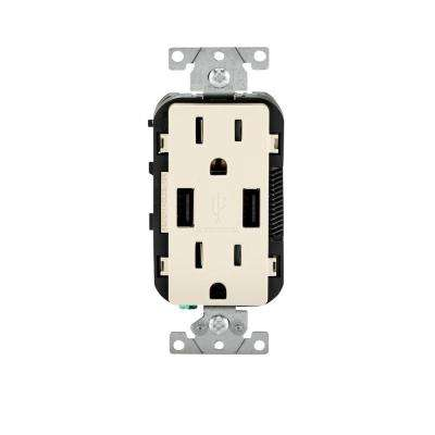 leviton decora 3 way switch wiring diagram 36 volt ezgo golf cart battery combo electrical outlets receptacles devices 15 amp combination tamper resistant duplex outlet and usb charger light almond