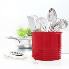 Kitchen Crocks Closet Organizers Chantal Fade Grey Large Ceramic Utensil Crock 92 19 R Fg The Home This Review Is From True Red