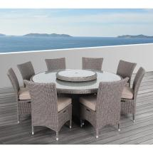 Ove Decors Habra Ii 9-piece Aluminum Outdoor Dining