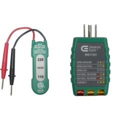 commercial electric 110 220v ac dc voltage tester with outlet tester [ 1000 x 1000 Pixel ]