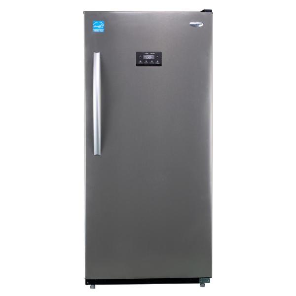 Premium 13.8 Cu. Ft. Frost Free Upright Freezer In Stainless Steel-pfv1376ms - Home Depot