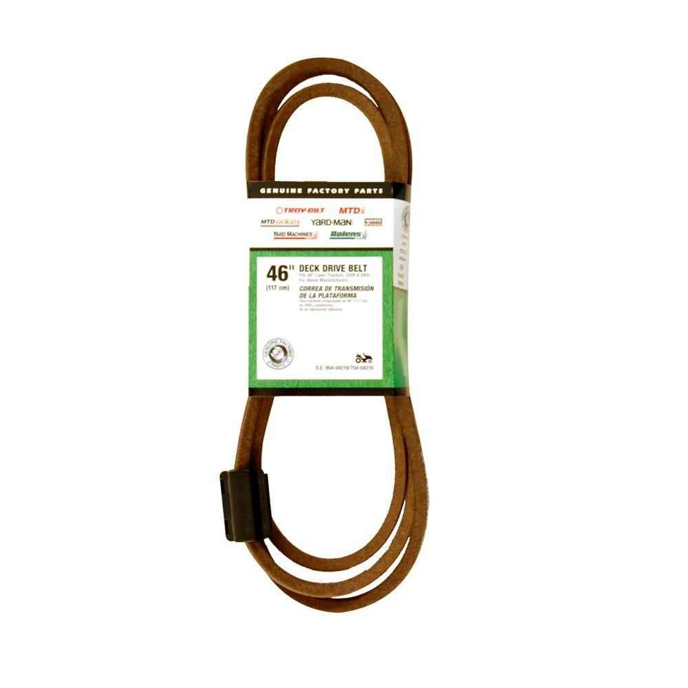 medium resolution of mtd genuine factory parts deck drive belt for 46 in lawn tractors 2009 and after