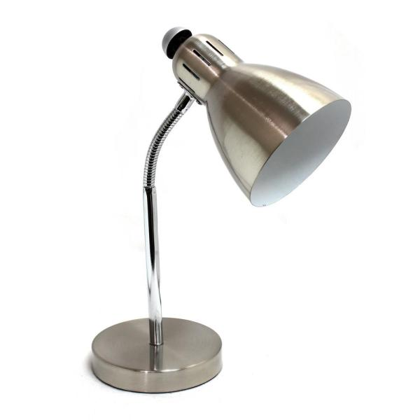 Simple Design 15.75 In. Semi-flexible Brushed Nickel Desk