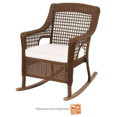 wicker rocking chairs chair covers geelong patio furniture steel weather resistant spring haven brown outdoor with cushions included choose your own color