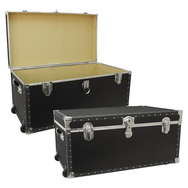 Seward Trunk Trailblazer Black Storage Trunk-swd5231-11