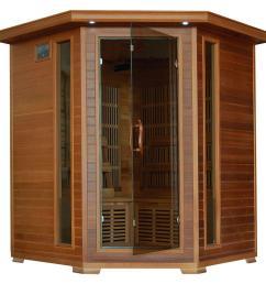 radiant sauna 4 person cedar corner infrared sauna with 10 carbon heaters [ 1000 x 1000 Pixel ]