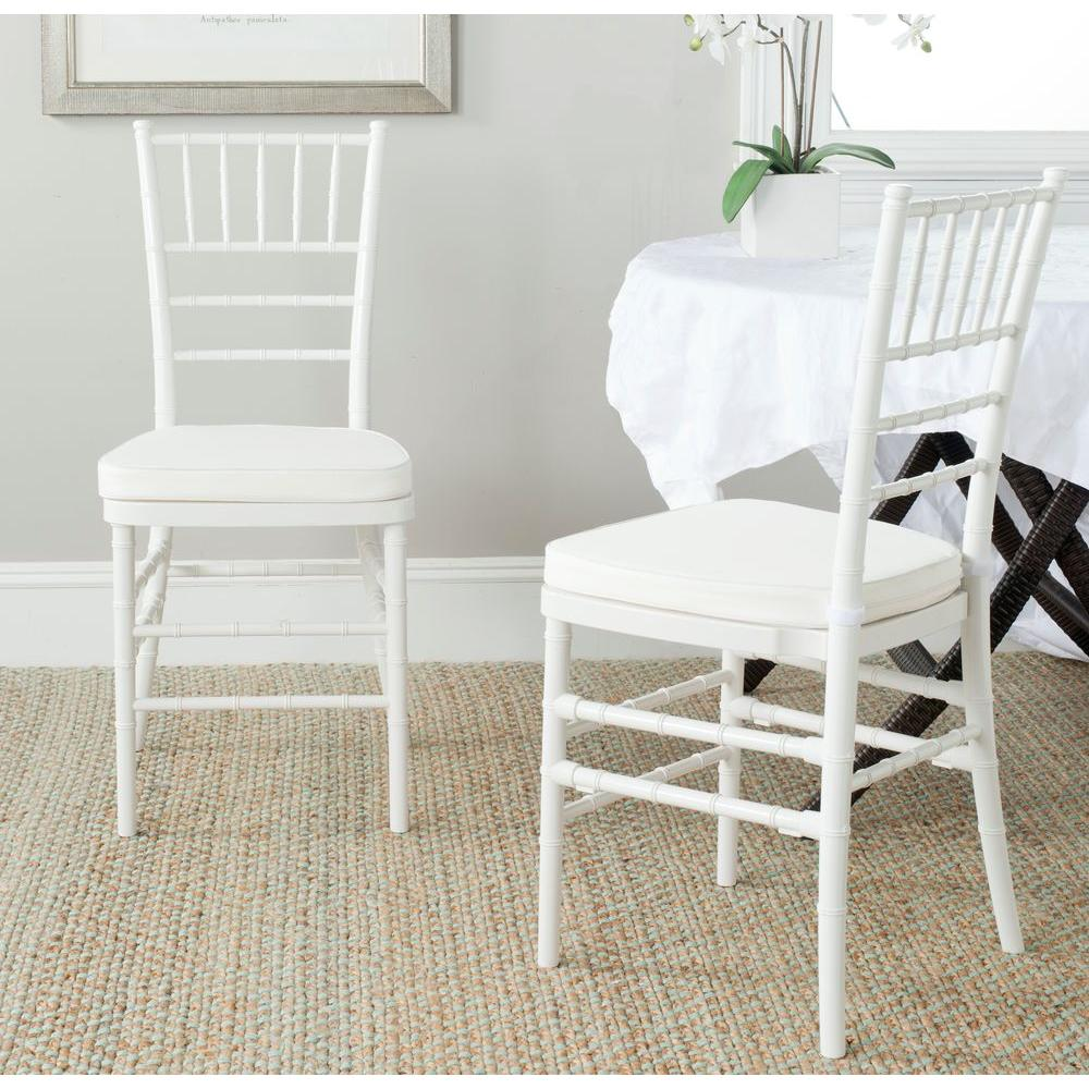 Safavieh Carly White Side Chair Set of 2FOX8000BSET2