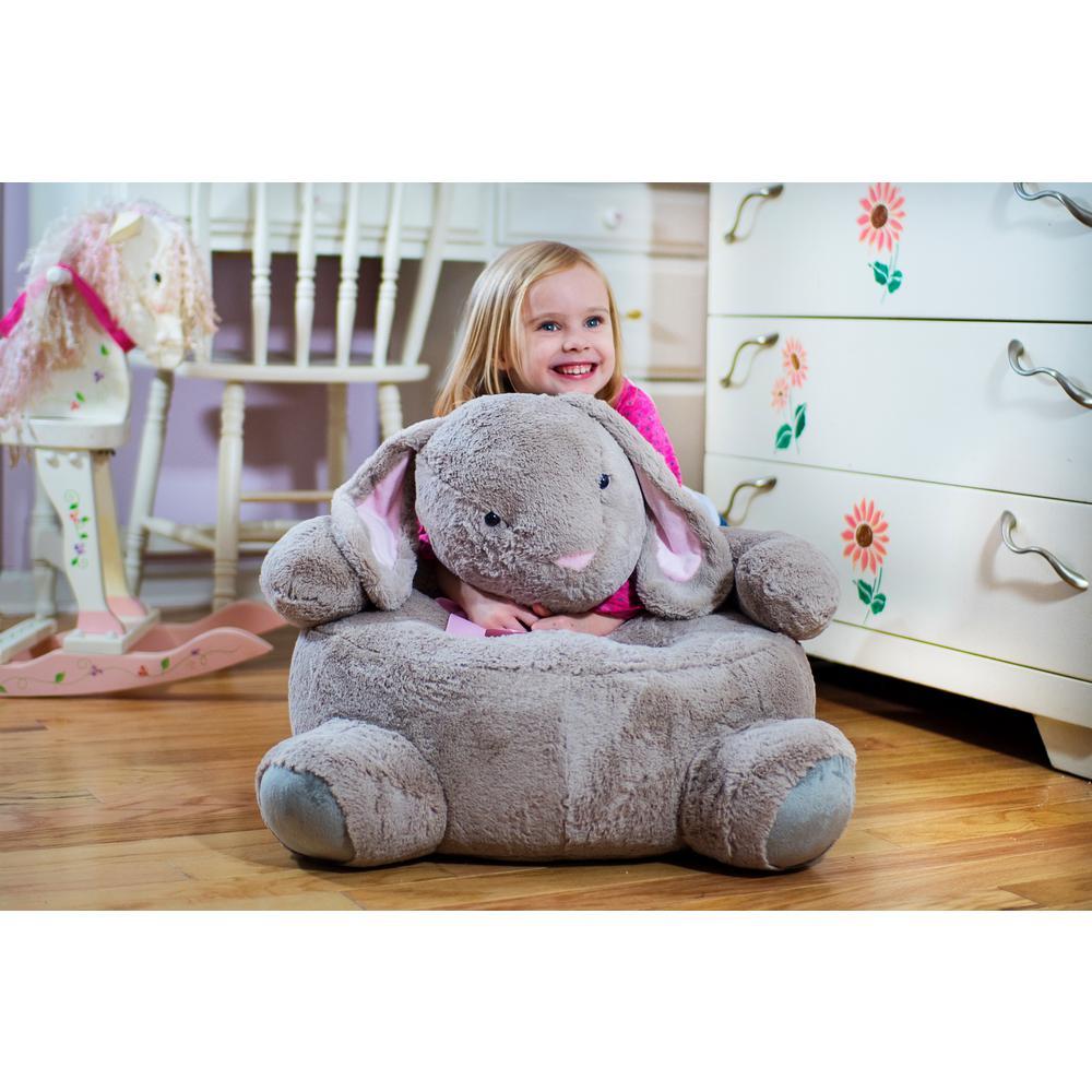 kids plush chairs desk chair walmart beige bunny bunnychair the home depot