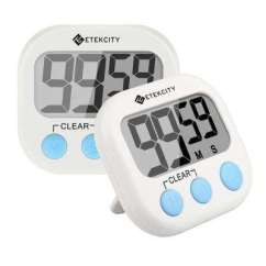 Kitchen Timer Big Islands Timers Thermometers The Home Depot White Digital 2 Pack