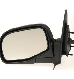 side view mirror left manual black 1998 2001 ford ranger 2 5l [ 1000 x 1000 Pixel ]