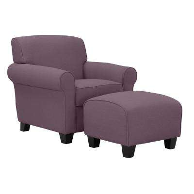 purple accent chair best office chairs for lower back pain the home depot winnetka arm and ottoman in amethyst linen