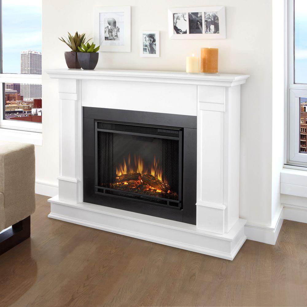 Real Flame Silverton 48 in Electric Fireplace in WhiteG8600EW  The Home Depot