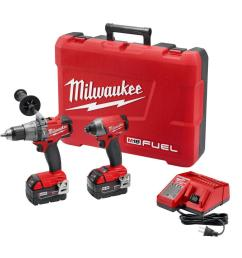 milwaukee m18 fuel 18 volt lithium ion brushless cordless hammer drill impact driver [ 1000 x 1000 Pixel ]