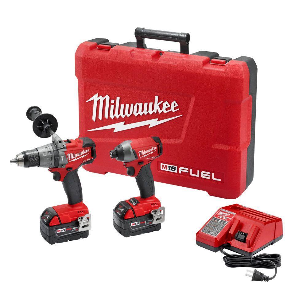 medium resolution of milwaukee m18 fuel 18 volt lithium ion brushless cordless hammer drill impact driver