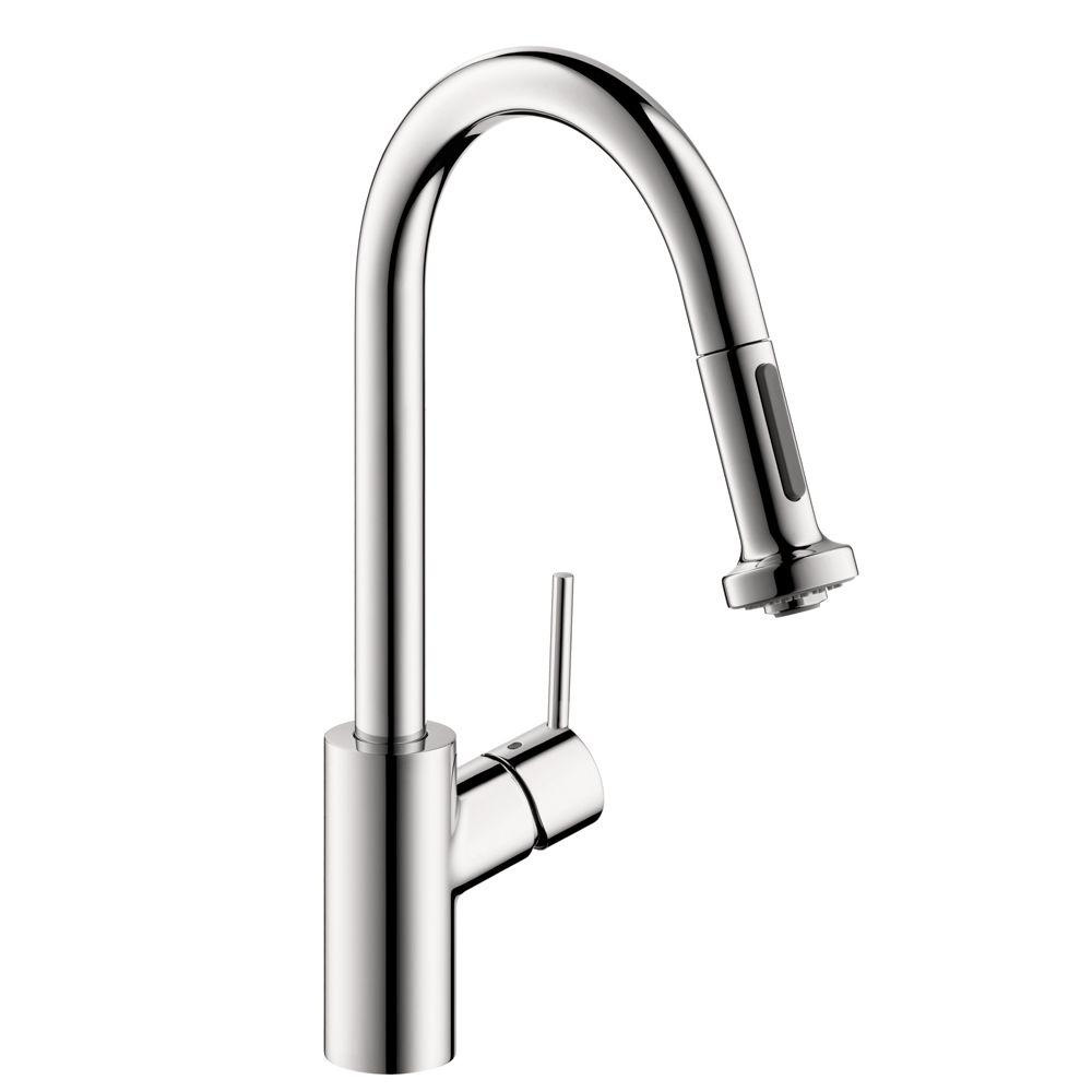 hansgrohe kitchen faucet design a island talis s single handle pull down sprayer in chrome
