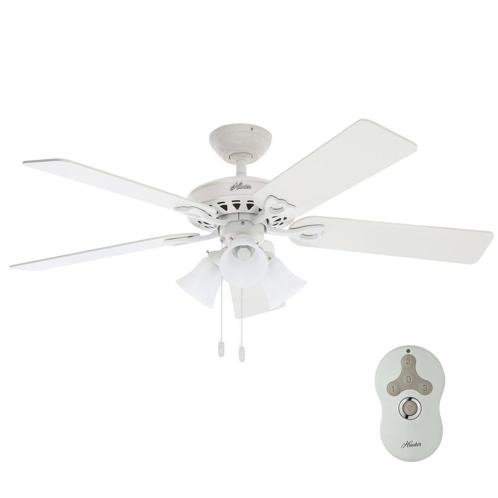 Hunter Sontera 52 in. Indoor White Ceiling Fan with