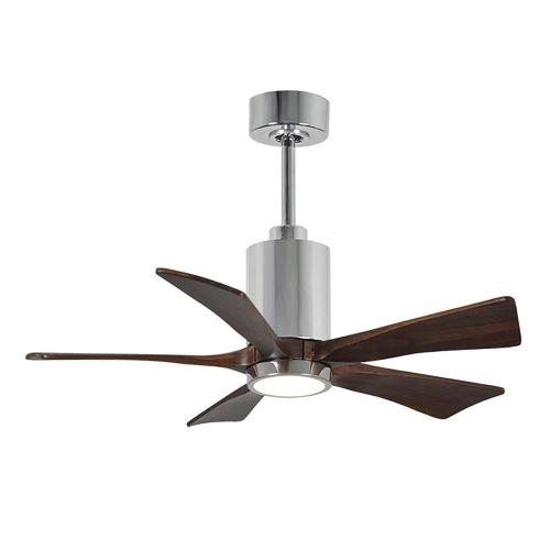 small resolution of patricia 42 in led indoor outdoor damp polished chrome ceiling fan with
