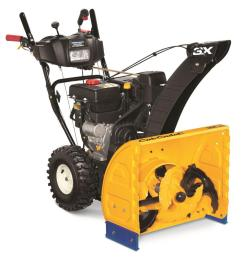 cub cadet 3x 24 in 277cc 3 stage electric start gas snow blower with power steering and heated grips [ 1000 x 1000 Pixel ]