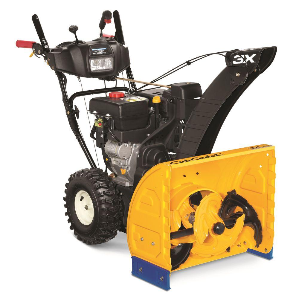 hight resolution of cub cadet 3x 24 in 277cc 3 stage electric start gas snow blower with power steering and heated grips