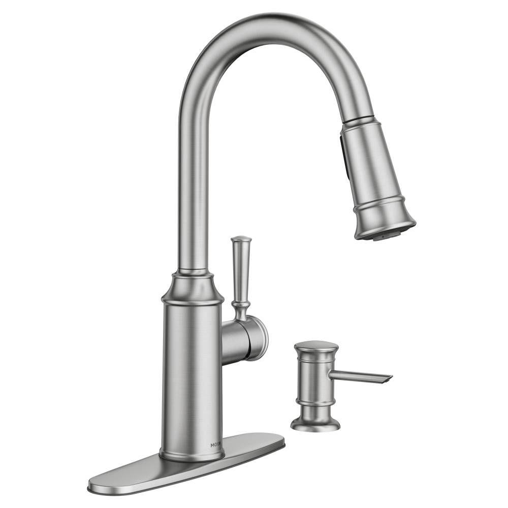 moen pull down kitchen faucet design gallery glenshire single handle sprayer with reflex and power clean