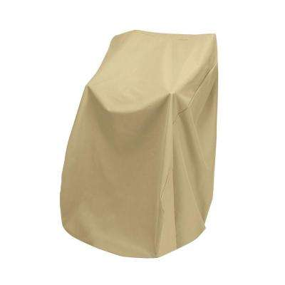 home depot stacking chair covers shower two dogs designs patio furniture khaki stacked cover