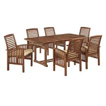 Walker Edison Furniture Company Boardwalk 7-piece Dark