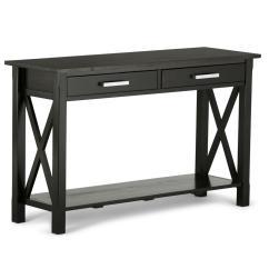 Sofa Table Size Daybed Melbourne Simpli Home Kitchener Dark Walnut Storage Console 3axcrgl003
