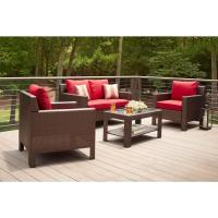 Hampton Bay Beverly 4-Piece Patio Deep Seating Set with ...