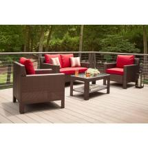 Hampton Bay Beverly 4-piece Patio Deep Seating Set With
