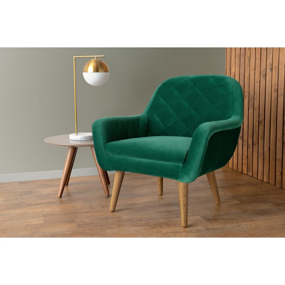 Emerald Green Accent Chair Rst Brands Isobel Emerald Green Upholstered Diamond Pattern Accent