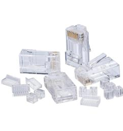 rj45 cat6 modular plugs 25 pack  [ 1000 x 1000 Pixel ]