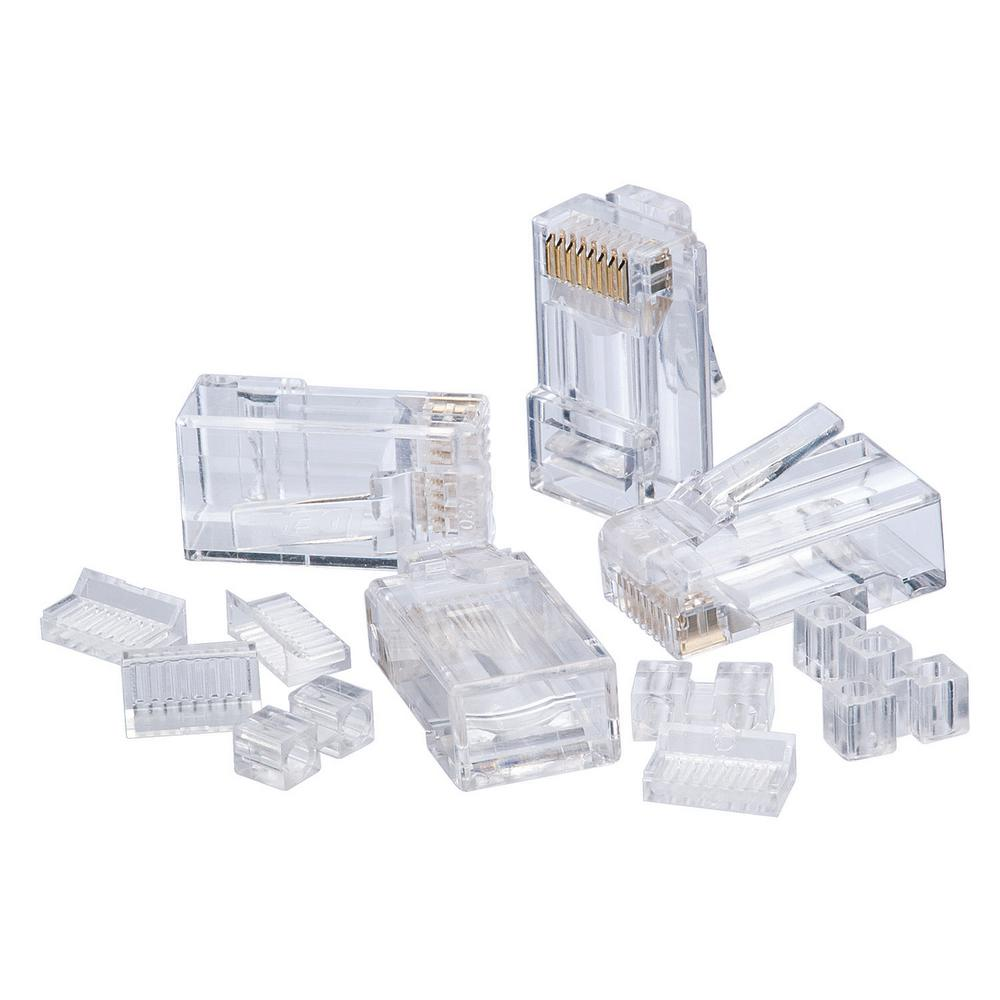 medium resolution of rj45 cat6 modular plugs 25 pack