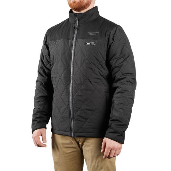DEWALT Mens Extra Large Black Soft Shell Heated Jacket