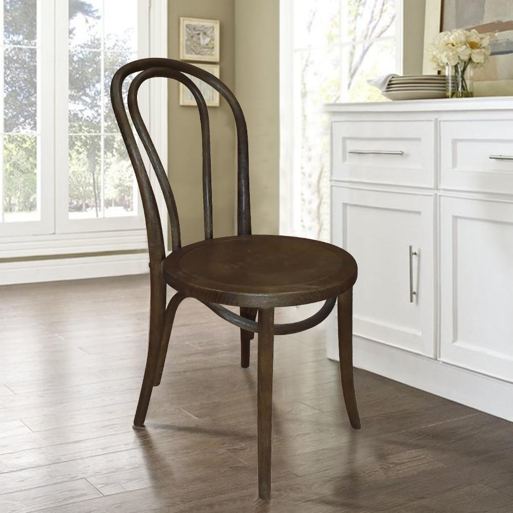 cafe chairs wooden under chair mat french espresso dining set of 2 dwc 421esp the home depot internet 302551123